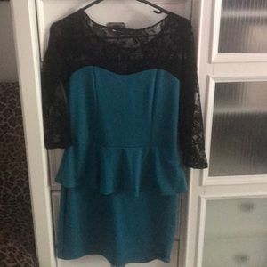 American City Wear Turquoise Dress